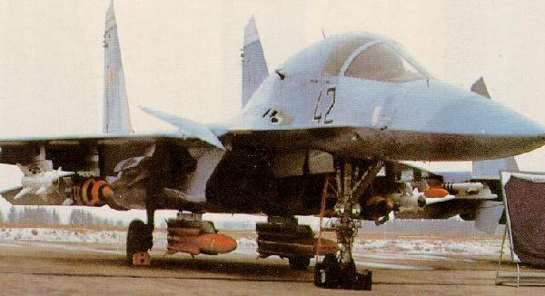 1.Опытный Су-27ИБ (Т-10В-1) на стоянке.