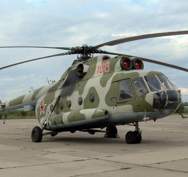 1.Вертолет Ми-8АТ на стоянке.