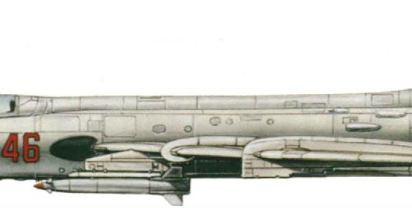 10.Су-17М2 раннего выпуска. Рисунок.