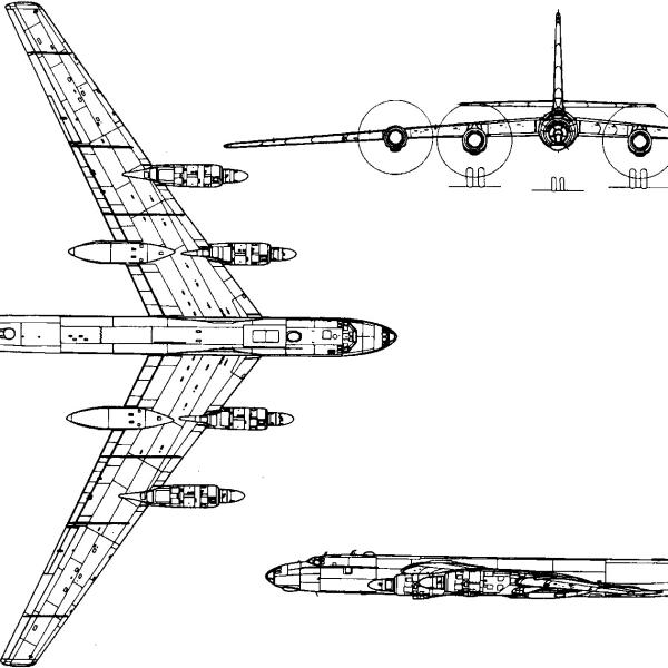 10.Ту-95. Схема.