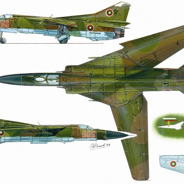 11.Проекции МиГ-23МФ. Рисунок.