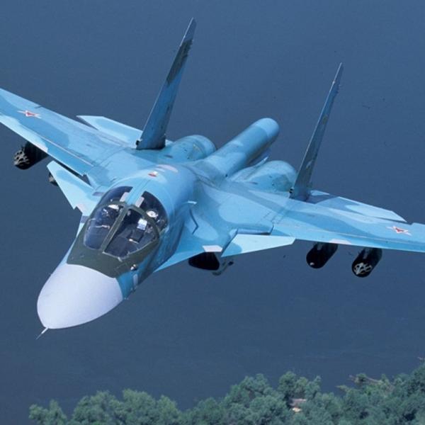 11.Су-34. Полёт на малой высоте.