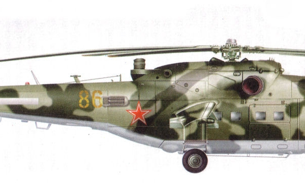 12.Ми-24П погранвойск СССР. Рисунок.