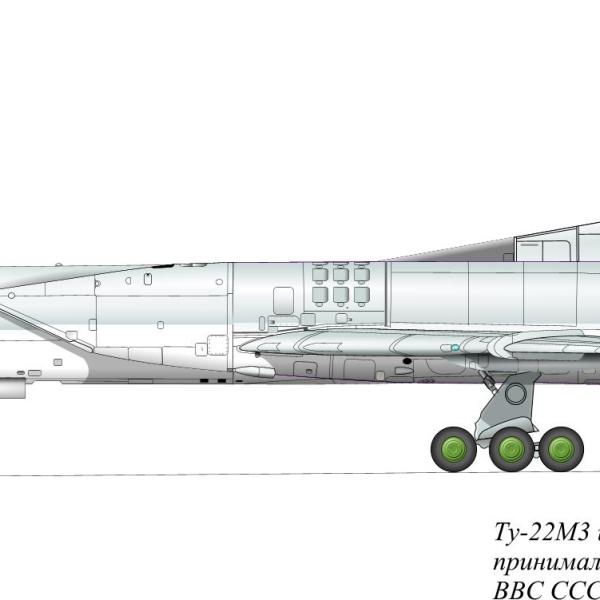 12.Ту-22М3 ВВС России. Рисунок.