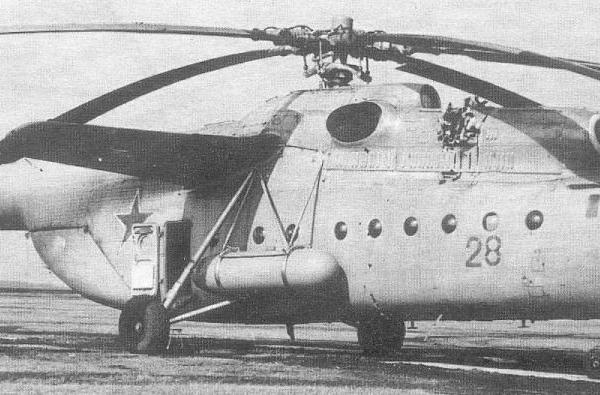 12а.Ми-6 51-го ОГВП после повреждения турбины одного из Д-25В. Апрель 1974г.