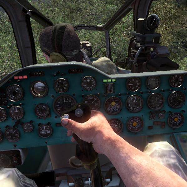 12а.Вид из пилотской кабины Ми-24Д.