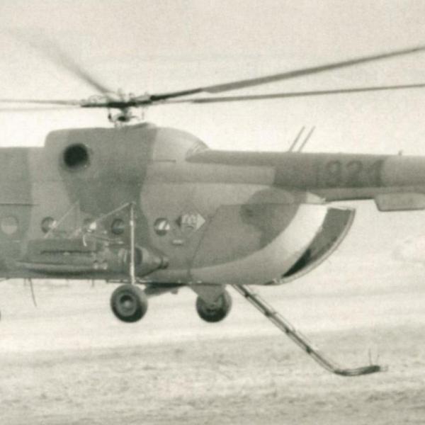 12б..Ми-8Т ВВС ГДР с вертолетным минным раскладчиком ВМР-1.