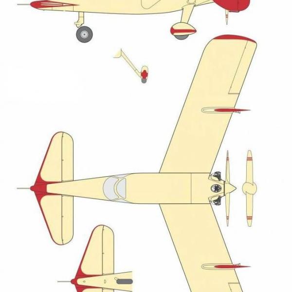 12б.Проекции МиГ-8. Рисунок.