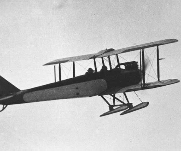 13.АИР-1 с лыжным шасси на взлете. Зима 1927 г.