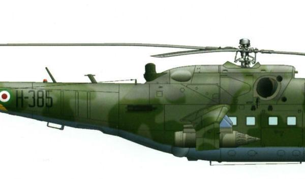 13.Ми-24П из состава ВВС Кот-д'Ивуара. Рисунок.