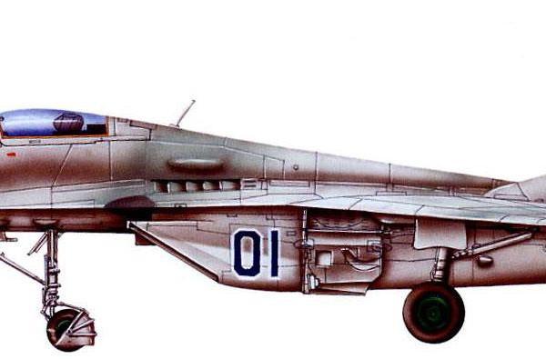 13.Опытный МиГ-29 № 901. Рисунок.