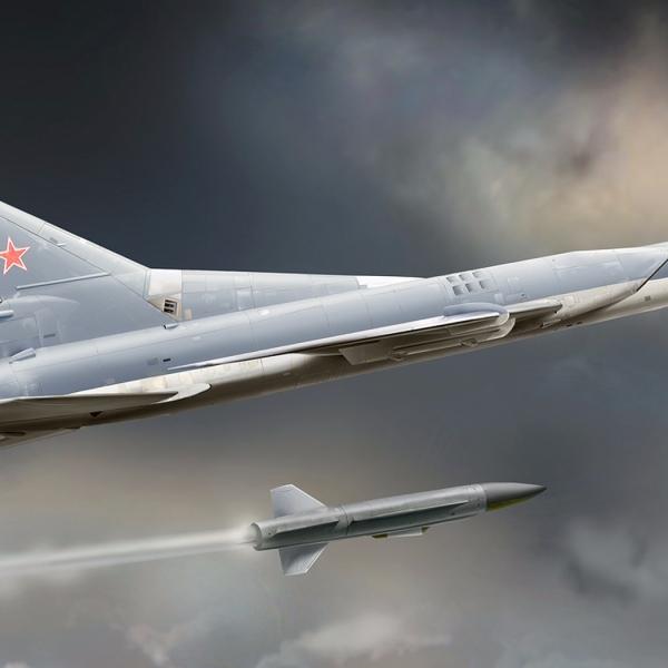13.Пуск крылатой ракеты с Ту-22М3. Рисунок.