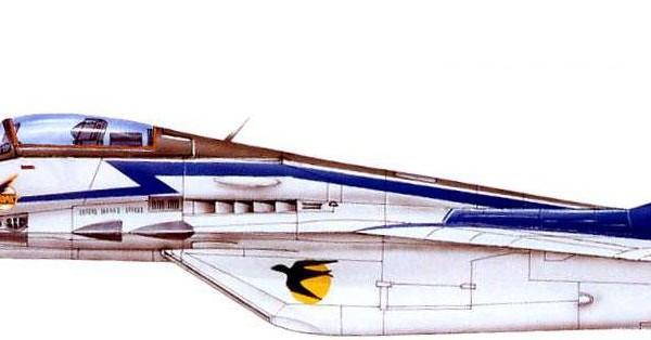 МиГ-29 (9-12) пилотажной группы Стрижы. Рисунок.