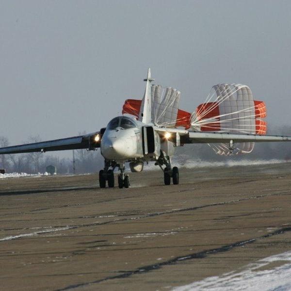 14.Су-24М на посадочном пробеге.