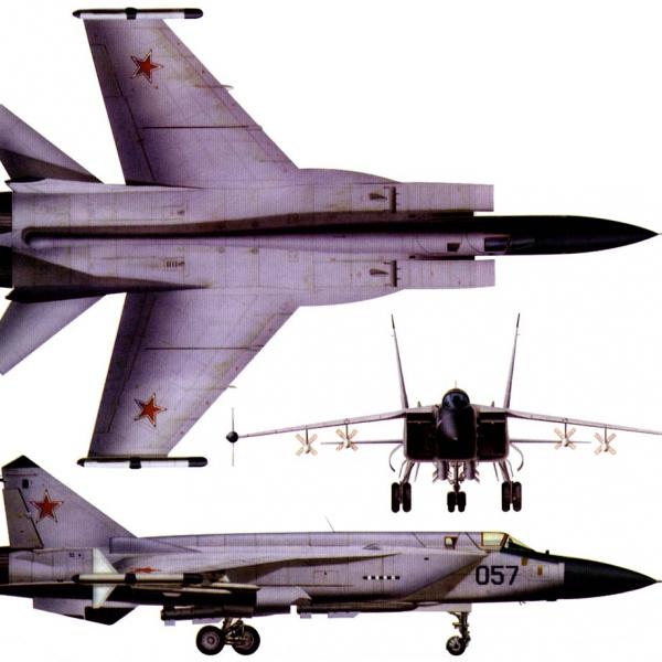 15.Проекции МиГ-31М. Рисунок.