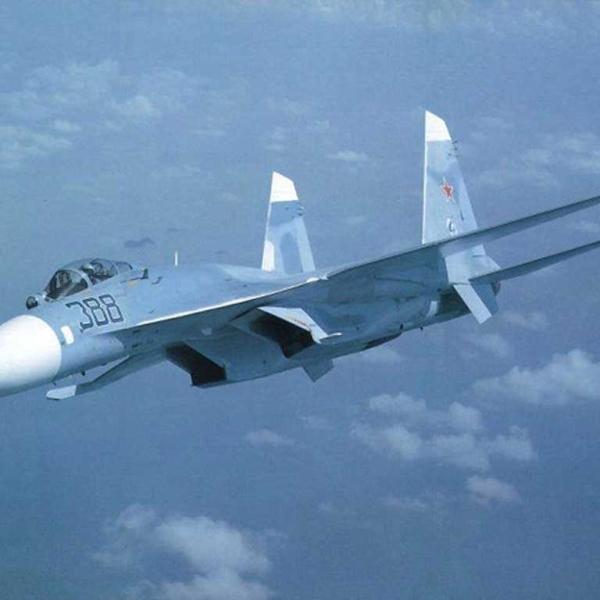 15.Су-27 в полёте.