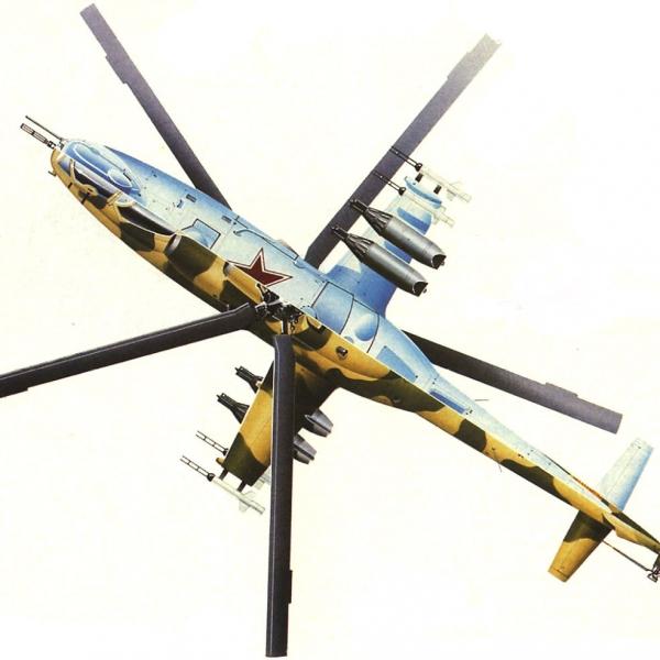 16.Ми-24Д ВВС СССР. Вид верх-низ. Рисунок.