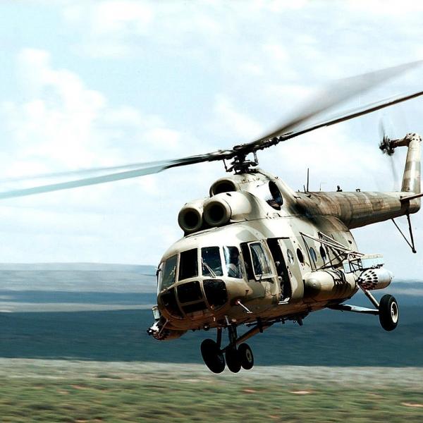 16.Ми-8ТВ в полете. 2