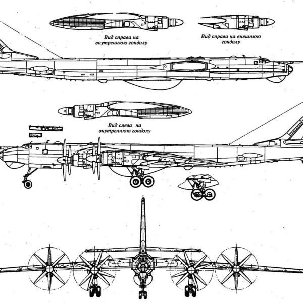 16.Ту-95РЦ. Схема.
