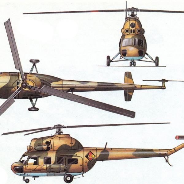 17.Проекции Ми-2 ВВС ГДР. Рисунок.