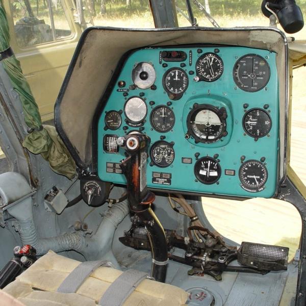 18.Кабина Ми-8Т. Место командира.