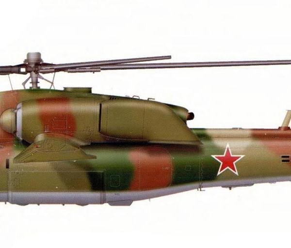 18.Первый опытный Ми-28А. Рисунок.