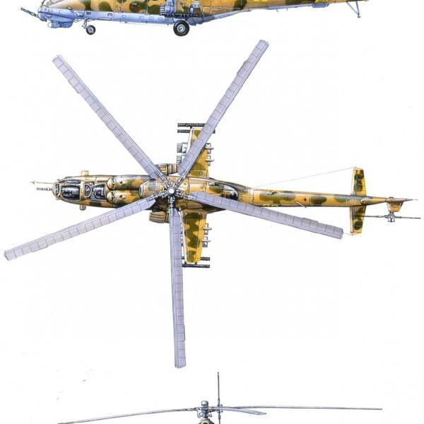19.Проекции Ми-24В. Рисунок 2.