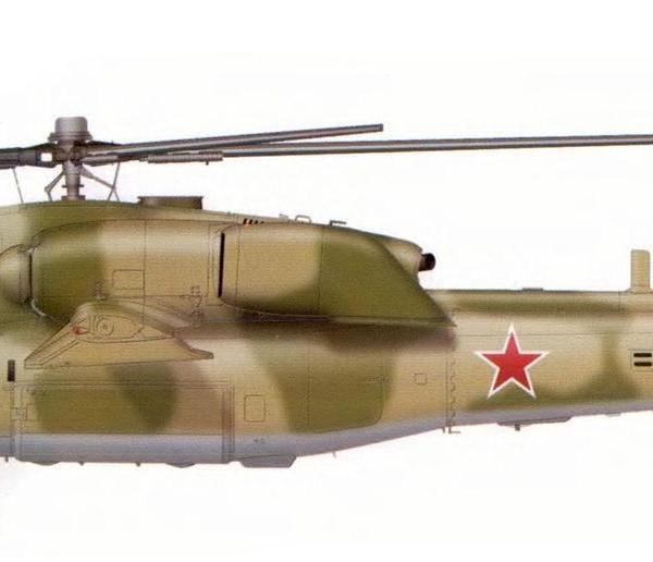 19.Второй опытный Ми-28А. Рисунок.
