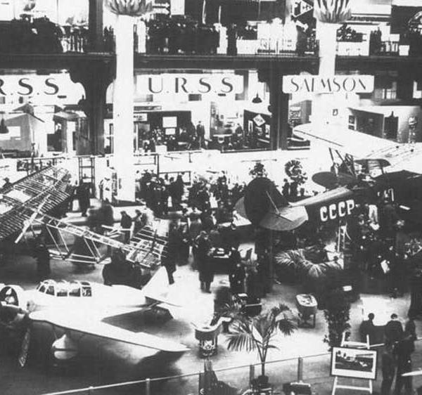 1а.АИР-9 в экспозиции Парижской авиационной выставки. Ноябрь 1934 г. 1