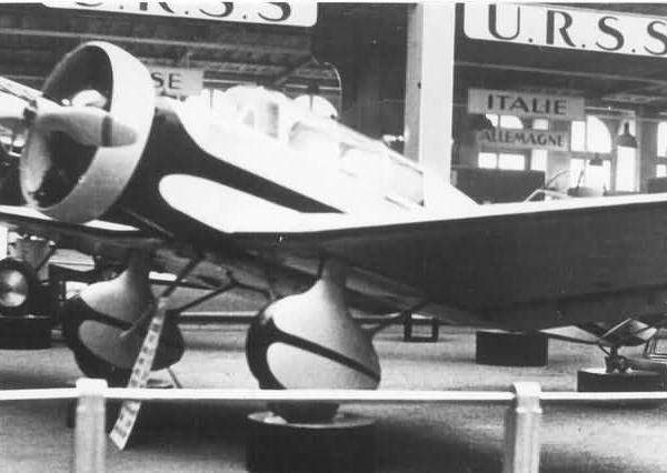 1б.АИР-9 в экспозиции Парижской авиационной выставки. Ноябрь 1934 г. 2