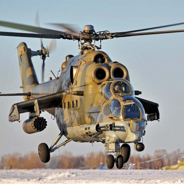 2.Ми-24П взлетает.