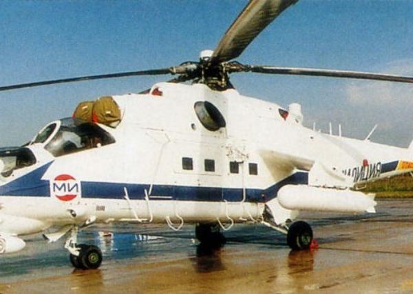 2.Милицейский патрульно-спасательный вертолет Ми-24ПС.