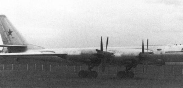 2.Первый опытный Ту-95 с двигателями НК-12.