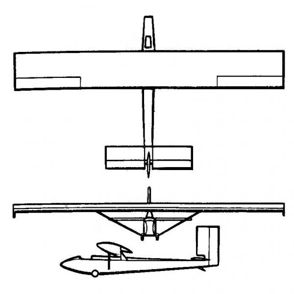 2.Планер Мастяжарт-3. Схема