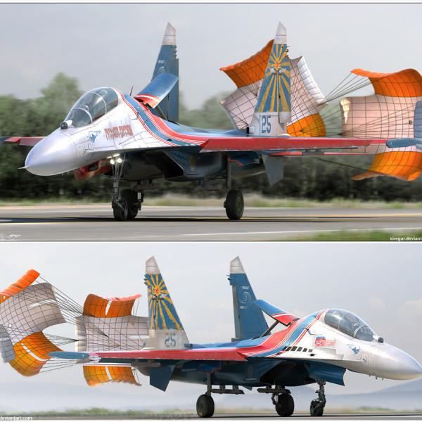 2.Су-27 на пробеге.