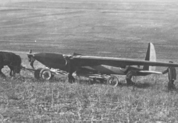 2.Транспортировка на гору Клементьева планера Коктебель. 1929 г.
