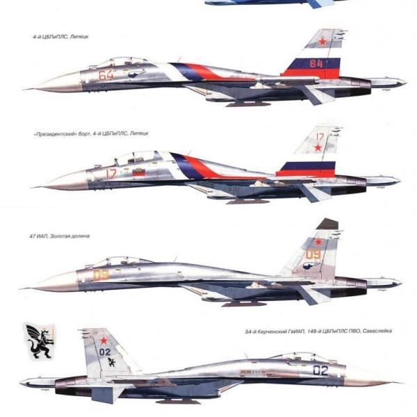 20б.Варианты окраски Су-27. Рисунок 2.