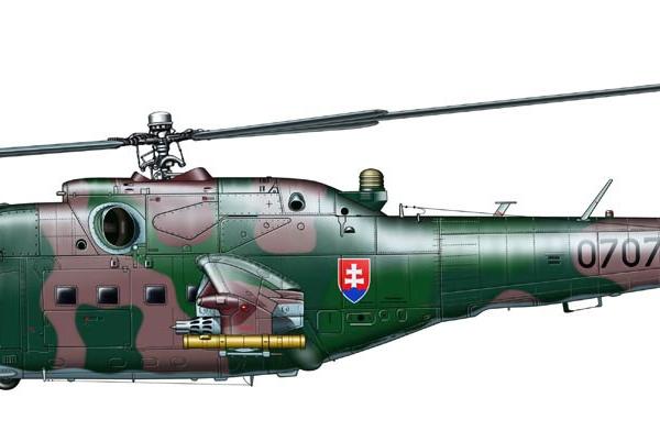 21а.Ми-24В ВВС Словакии. Рисунок.