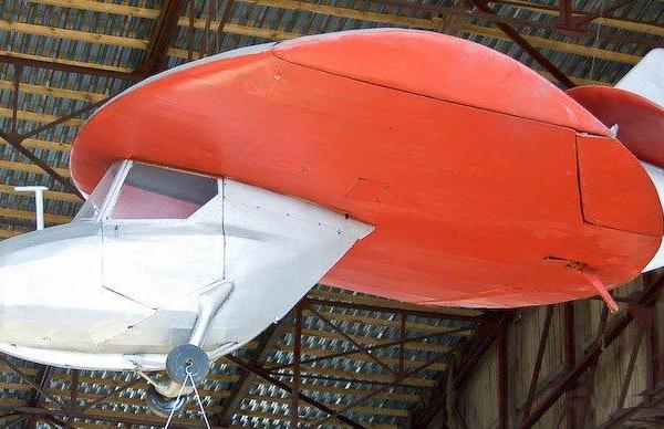 2а.Планер Дископлан-1 в музее ВВС Монино.