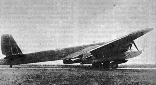 2б.ТБ-3 с подвешенным ПТ типа ПСН-1.