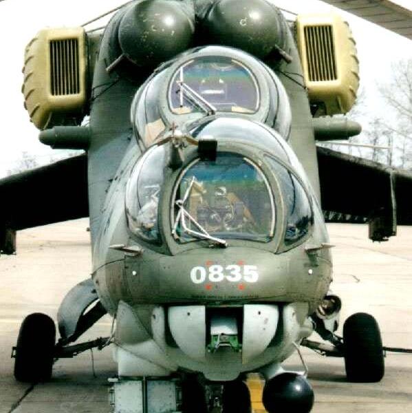 3.Ми-24В. Вид спереди.