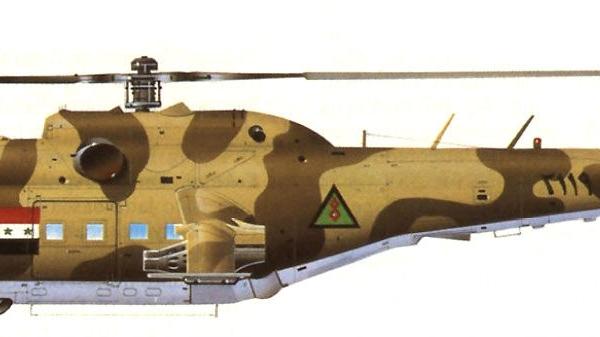 3.Ми-25 ВВС Ирака. Рисунок.