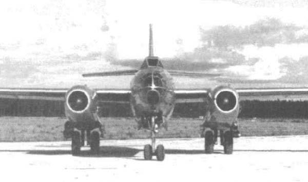 4.Ил-46. Вид спереди.