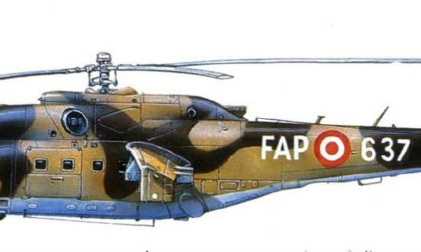 4.Ми-25 ВВС Перу. Рисунок.