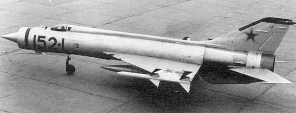 5.Экспериментальный истребитель-перехватчик Е-152-1