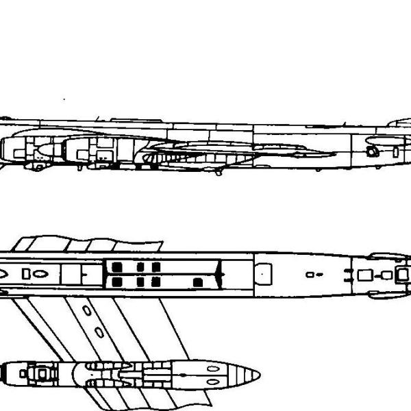 5.Ту-95МР. Схема.