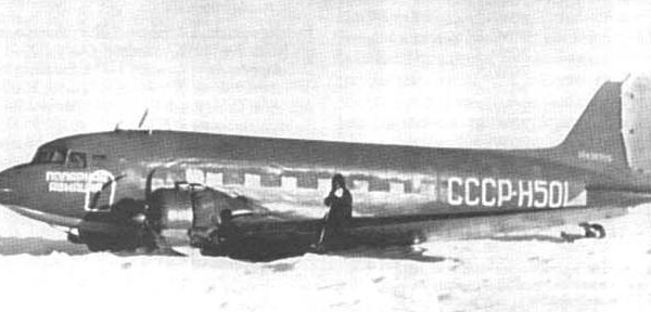 6.Ли-2В СССР-Н501 на вынужденной посадке. Февраль 1958 г.