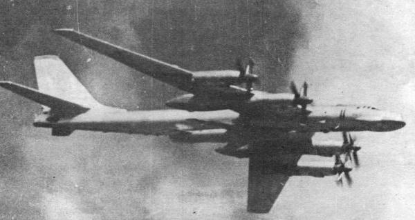6.Ту-95К в полете.