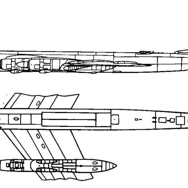 6.Ту-95М. Схема