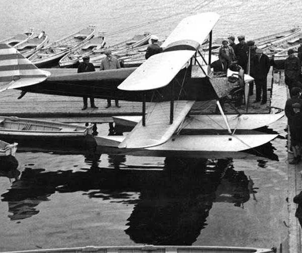 7.АИР-2С с двигателем Siemens S13A на поплавках. Москва 1931 г.